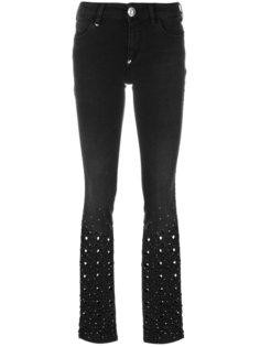 джинсы с вырезными деталями  Philipp Plein