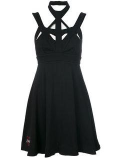 приталенное платье с вырезными деталями Philipp Plein