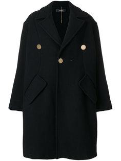 однобортное пальто Ellery