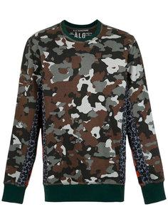 panelled camouflage sweatshirt À La Garçonne