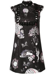 платье с цветочным принтом Giamba