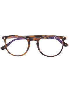 очки в круглой оправе с эффектом черепашьего панциря L.G.R