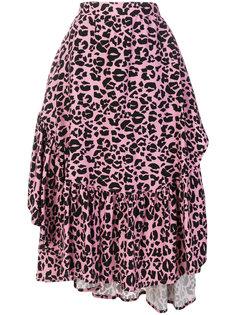 юбка с оборкой и леопардовым принтом  Barbara Bologna