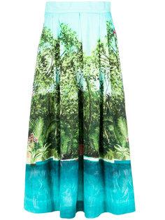 миди юбка с рисунком Isolda