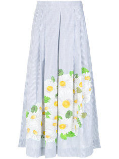 daisy print embroidered skirt Isolda