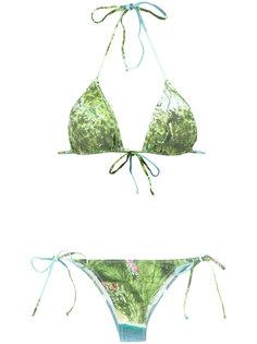 foliage print bikini set Isolda
