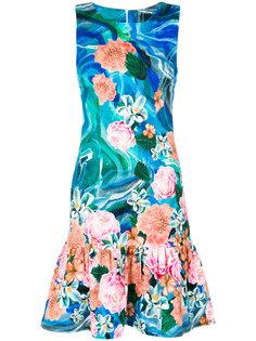 printed flared hem dress Isolda