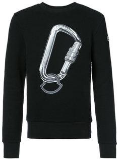 свитер с принтом Moncler