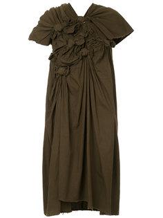 платье с присборенной отделкой Comme Des Garçons