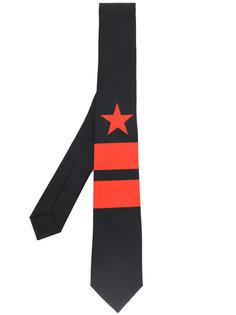 галстук с принтом звезды и полосок Givenchy