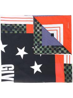 шарф с принтом в клетку Givenchy