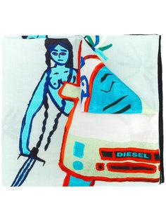 шарф с вышивкой Diesel