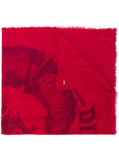шарф с вышитым логотипом Diesel