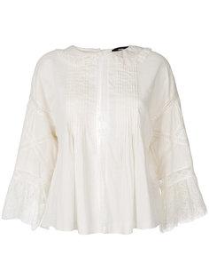 блузка с кружевными деталями и вышивкой Diesel