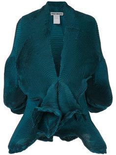 плиссированный пиджак с короткими рукавами Issey Miyake