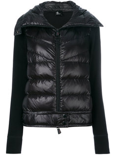 пальто-пуховик с контрастными рукавами Moncler Grenoble