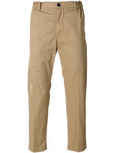 укороченные брюки  с потертой отделкой Diesel