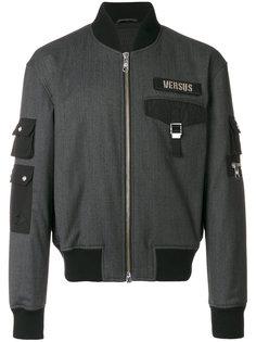 куртка-бомбер с заплаткой с логотипом Versus
