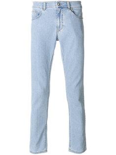 брюки скинни с линялым эффектом Versus