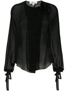 блузка с воротником на завязке Dvf Diane Von Furstenberg