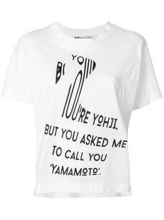 футболка с принтом  Y-3