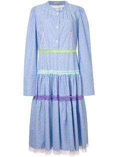 плиссированное платье-рубашка  Natasha Zinko