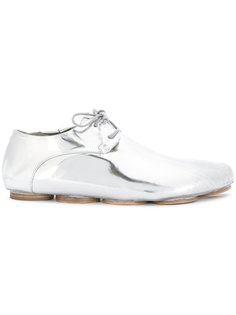 металлизированные ботинки на шнуровке Marsèll
