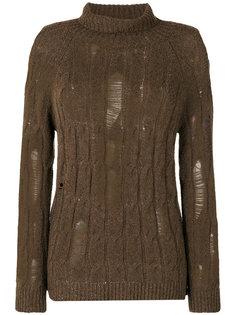 свитер с эффектом потертости Damir Doma