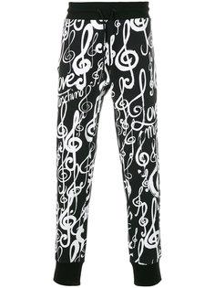 спортивные брюки с графическим принтом Love Moschino