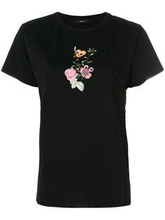 футболка с цветчным принтом Diesel