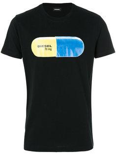 футболка с принтом пилюли Diesel
