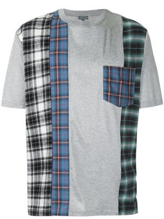 футболка с клетчатыми панелями Lanvin