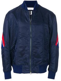 куртка-бомбер с полосками на рукавах Facetasm