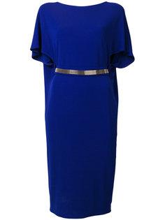 платье с рукавами клеш и поясом  Lanvin