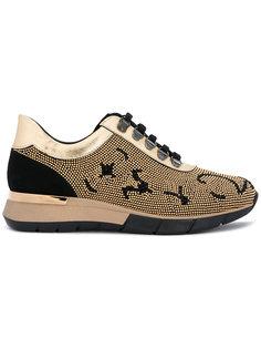 кроссовки с отделкой заклепками Baldinini