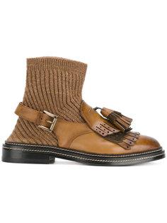 ботинки с кисточками Santoni