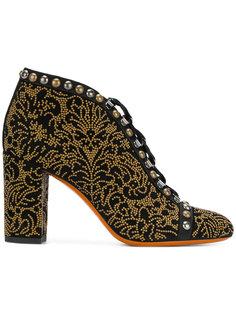декорированные ботинки на шнуровке Santoni