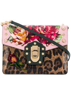 сумка Lucia с цветочным принтом и леопардовым узором Dolce & Gabbana