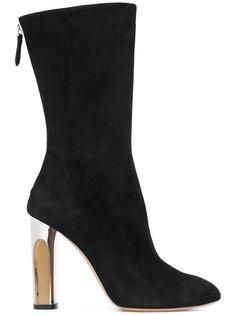 узкие ботинки на скульптурном каблуке Alexander McQueen