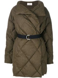 дутое стеганое пальто с поясом  Pringle Of Scotland