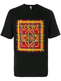 футболка с нашивкой в клетку Loewe