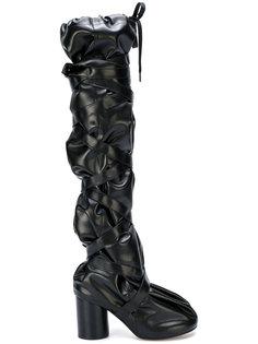 длинные сапоги с дизайном со сборкой  Maison Margiela