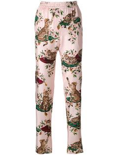 брюки с принтом кошек Dolce & Gabbana
