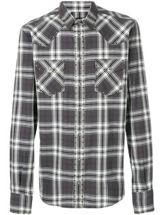 рубашка в клетку с заклепками Dolce & Gabbana