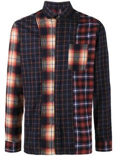 клетчатая рубашка в стиле пэчворк Lanvin
