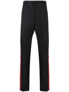 брюки строгого кроя с красными полосками Lanvin