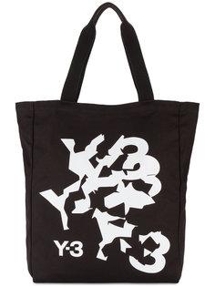 сумка-тоут с деформированным логотипом Y-3