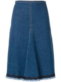 джинсовая юбка с отделкой  See By Chloé