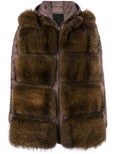 дутая куртка с мехом  Liska