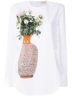 рубашка с принтом в виде цветов в вазе Ports 1961